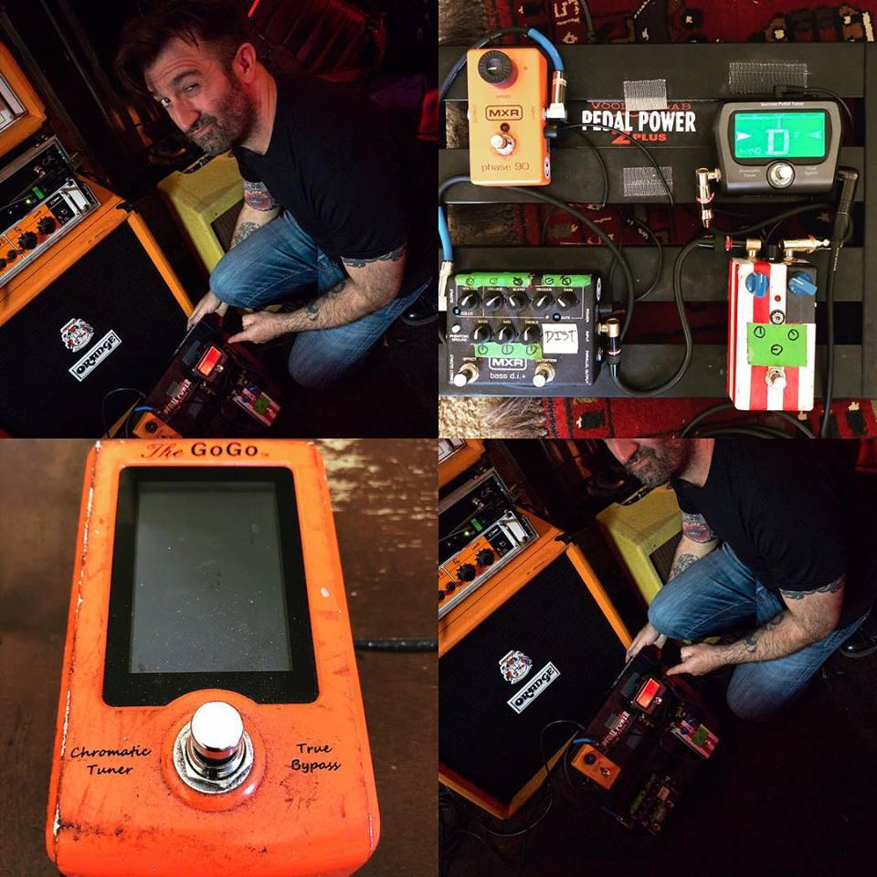 Gogo Tuner Family Artist Carl Raether rockin El Paso !! Check out his Original GoGo Orange Pedal !! Used by Carl World Wide in front hundreds of thousand fans since 2012 !!