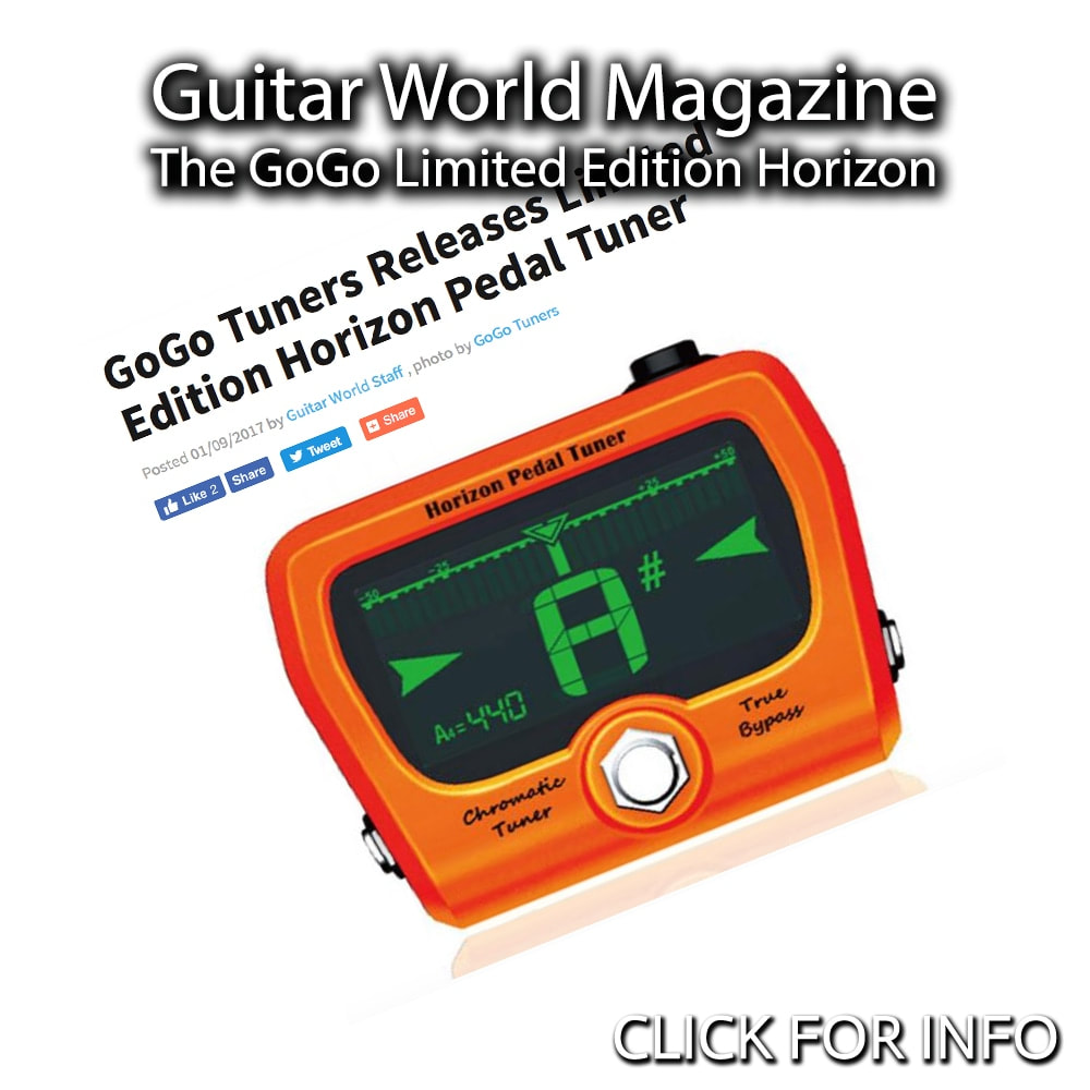 GUITAR WORLD, NAMM 2017: GOGO TUNERS RELEASES LIMITED EDITION HORIZON PEDAL TUNER