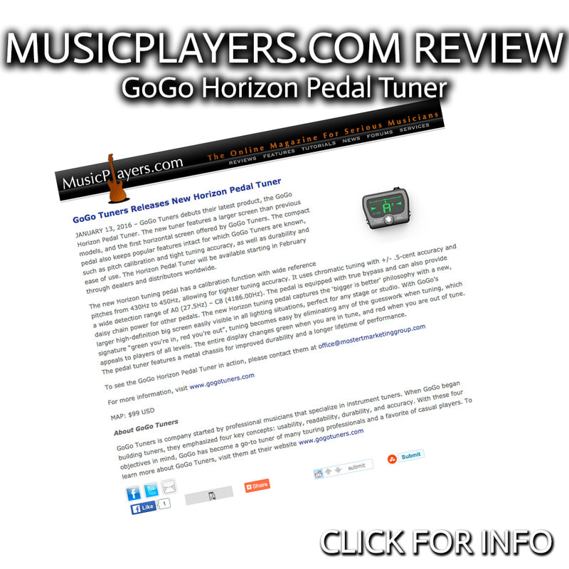 MUSICPLAYERS.COM REVIEW GOGO TUNERS HORIZON PEDAL TUNER